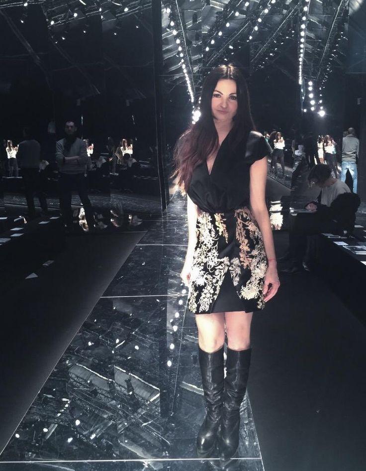 Vittoria Melchioni, giornalista Modenese favolosa in Blumarine allo show della #mfw.