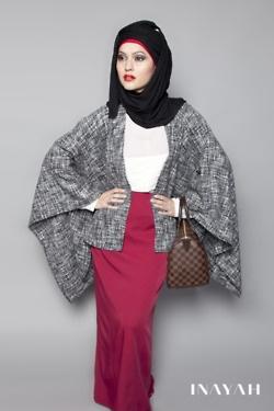 Sophisticated hijab. Yes to the kimono jacket