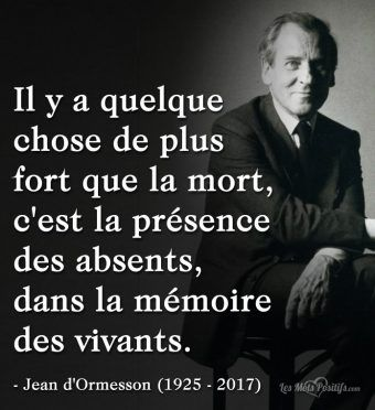 Citation hommage à Jean d'Ormesson (1925 – 2017)