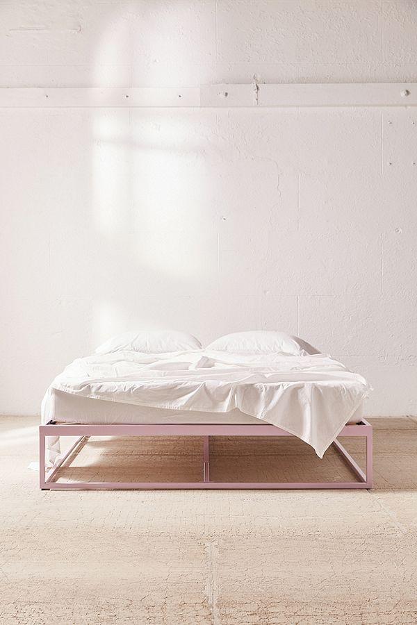 Minimal Platform Bed Bedroom Interior Queen Bed Frame Cheap Simple Bed Frame
