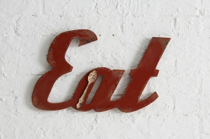 WALL SIGN EAT  - MULTI