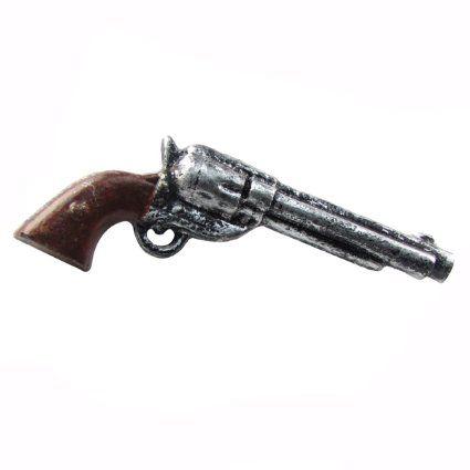 Metal Pistol Revolver Gun Cabinet Pull Drawer Handle Knob
