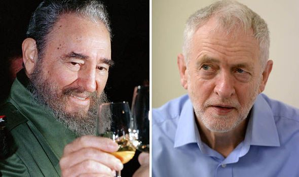 "Fidel Castro and Jeremy Corbyn. JEREMY CORBYN was today branded a ""disgrace"" after he issued a jaw-dropping tribute to ""heroic"" dictator Fidel Castro, who butchered 100,000 of his own citizens and routinely persecuted gay and black people. (What a  choice you Sad Libtards have to make. Labour or Liberal? What a choice. Make it easy on yourself and go live in mainland Europe, you should do well there. jp.)"