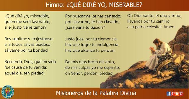MISIONEROS DE LA PALABRA DIVINA: HIMNO LAUDES - ¿QUÉ DIRÉ YO, MISERABLE?
