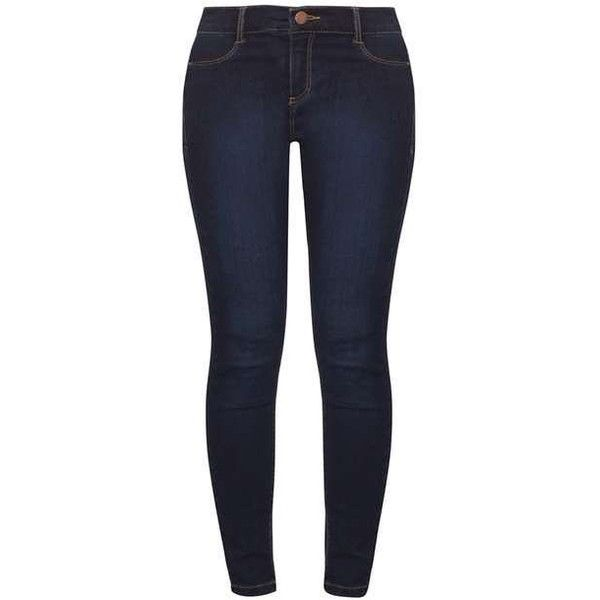 Dorothy Perkins Petite Indigo 'Frankie' Jeans ($39) ❤ liked on Polyvore featuring jeans, pants, bottoms, dorothy perkins, skinny fit jeans, denim skinny jeans, cut skinny jeans and skinny leg jeans