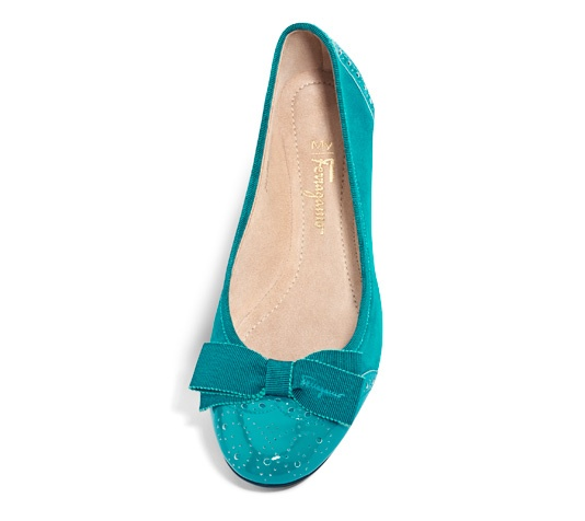 Teal Suede shoes by My Ferragamo