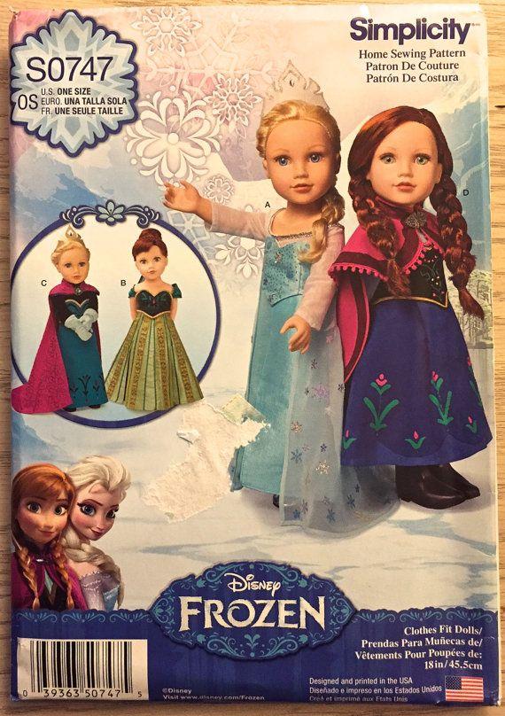 "#DISNEY #FROZEN Doll Sewing Pattern ~ American 18"" Dolls #Costume Patterns #americandoll #patterns4you #sew-lutions"