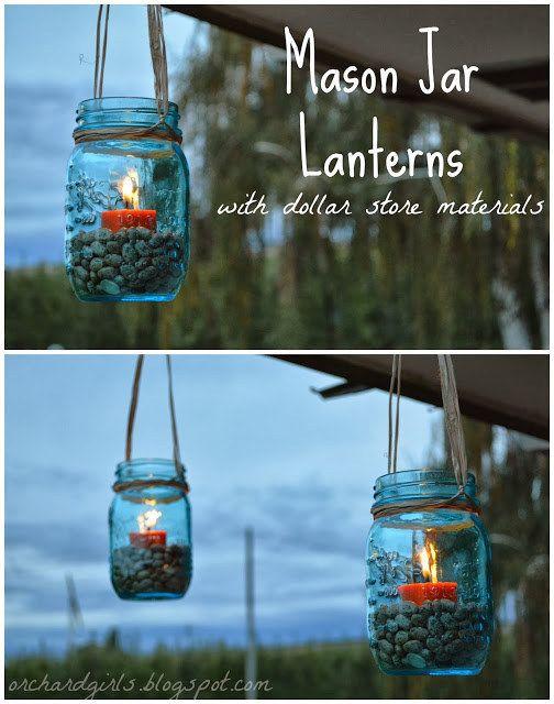 O cuélgalas en tarros de cristal alrededor de tu porche. | 31 maneras inteligentes de decorar tu espacio exterior