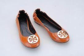 Orange flats. Cute.