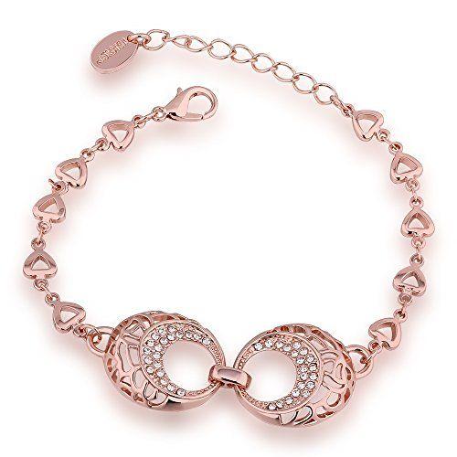 LEKANI Trendy Openwork Rose Gold Plated Luxury Crystal Rhinestones Embellished Women Bracelets LEKANI http://www.amazon.com/dp/B013GX2UFU/ref=cm_sw_r_pi_dp_ZKrXwb0G8FBF7