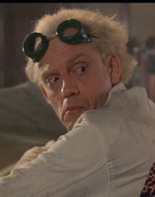 Christopher Lloyd- Emmet 'Doc' Brown, Back to the Future.