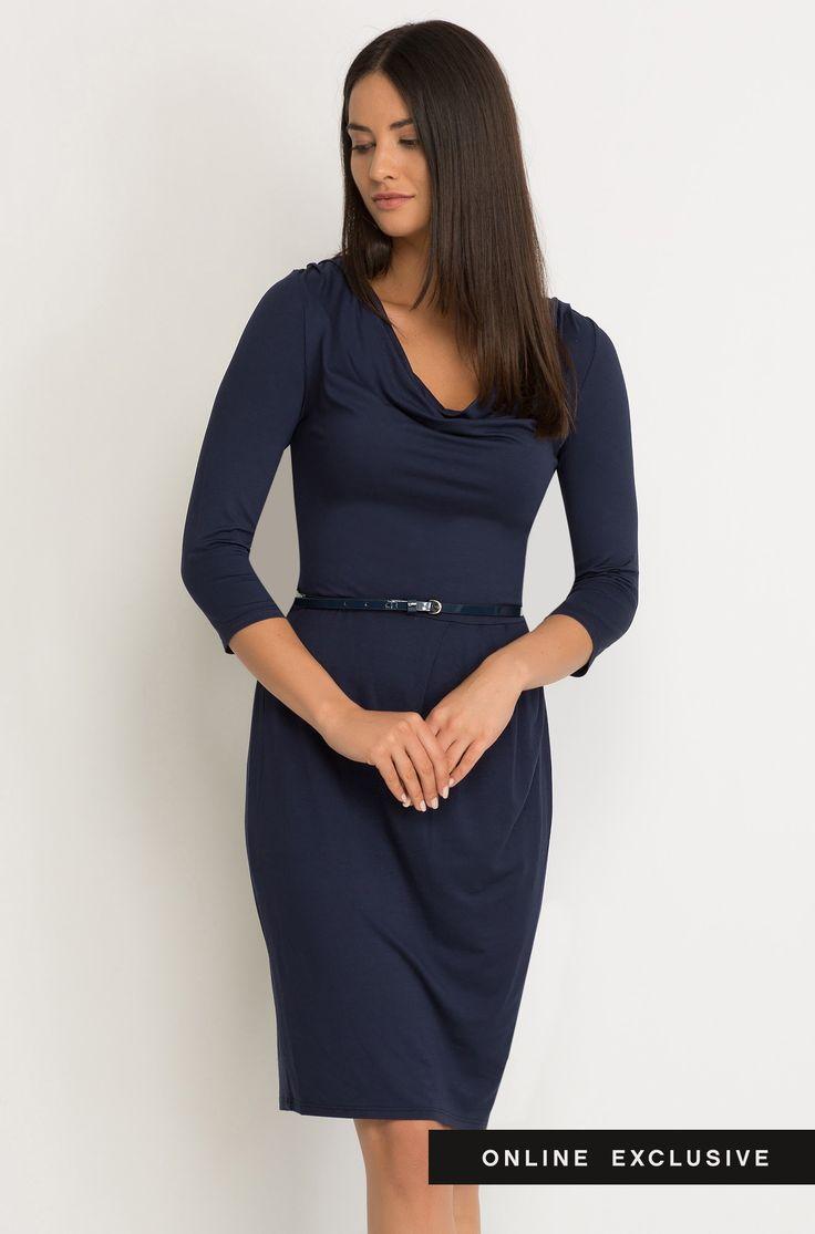 Ołówkowa sukienka z jerseyu