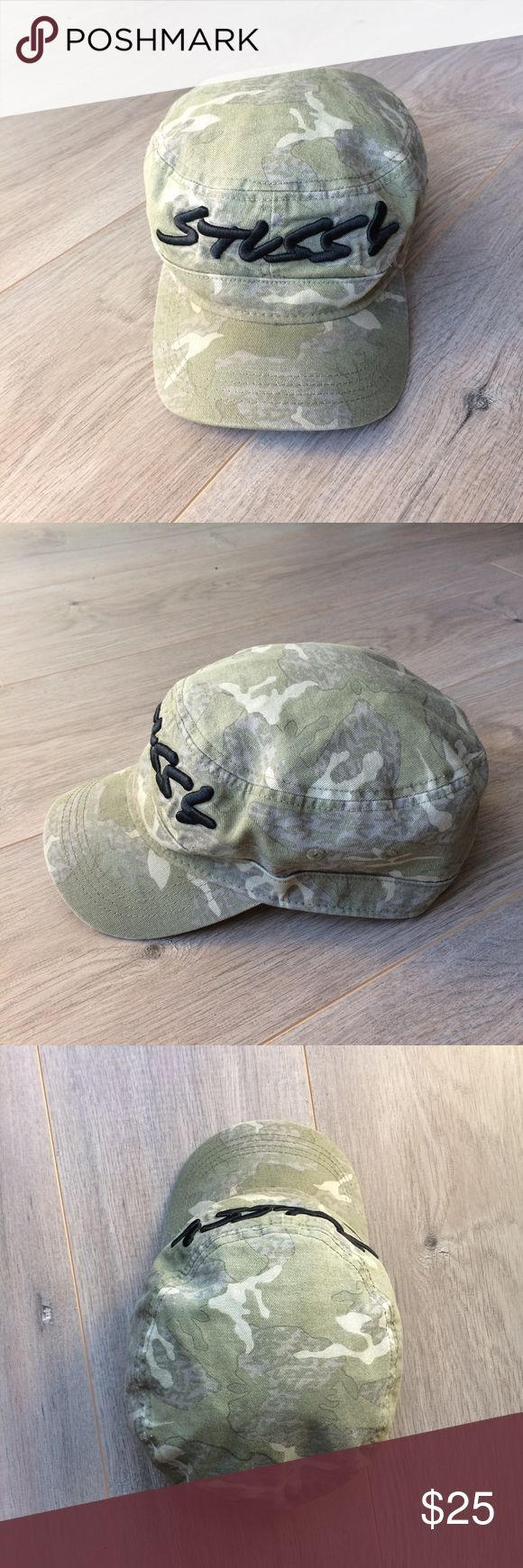 STUSSY Military Camo Army Hat Cap Camouflage Snap STUSSY Military Camo Army Hat Cap Embroidered Logo Camouflage Snapback  Great Pre-Owned Condition 100% Cotton Stussy Accessories Hats