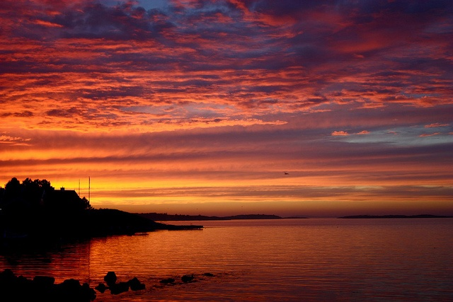 'Vibrant Särö Sunset Ends' - Särö, Sweden;  photo by runintherain, via Flickr