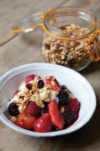 The Hairy Dieters' home-made granola and fruit compote