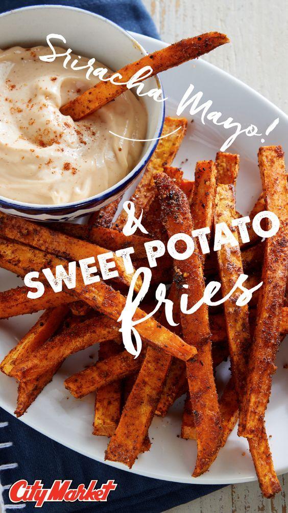 Sweet Potato Fries with Sriracha Mayo Recipe Sweet