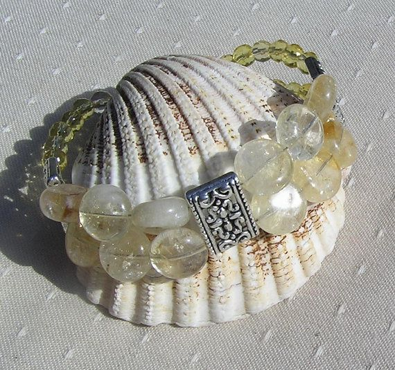 Citrine Gemstone Crystal  Bracelet   Summer Dew by SunnyCrystals, £12.00