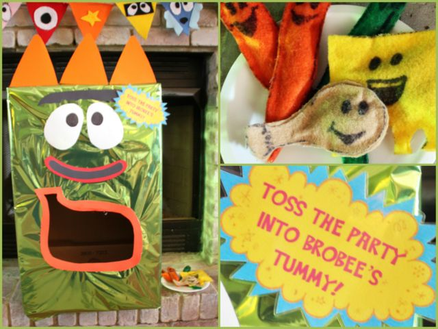 Party in Brobee's tummy toss game - Yo Gabba Gabba party