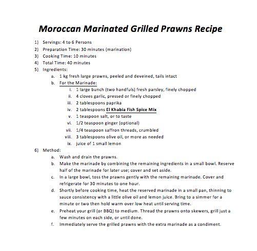 Moroccan Marinated Grilled Prawns Recipe