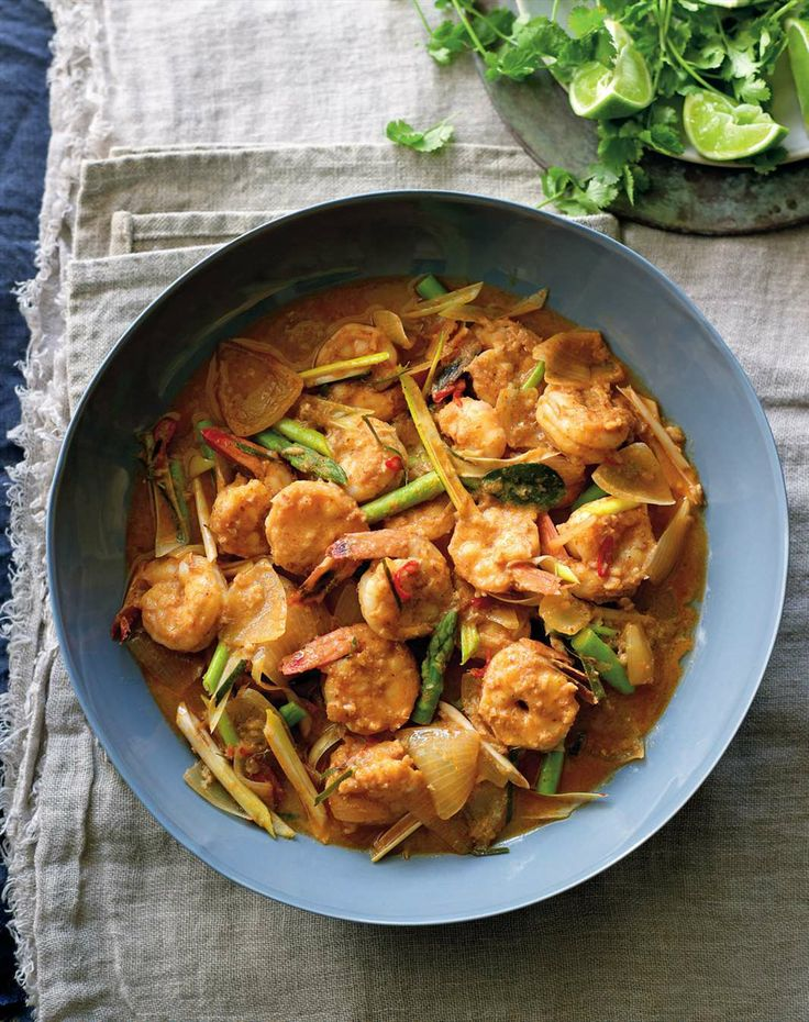 Prawn and asparagus red curry by Jane Kennedy from OMG! I Can Eat That?   Cooked