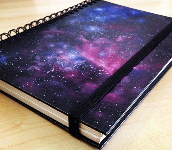 Cahier galaxie personnalisé