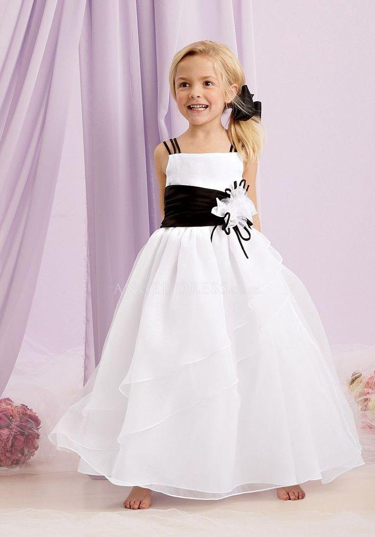 Black Taffeta Flower Girl Dress