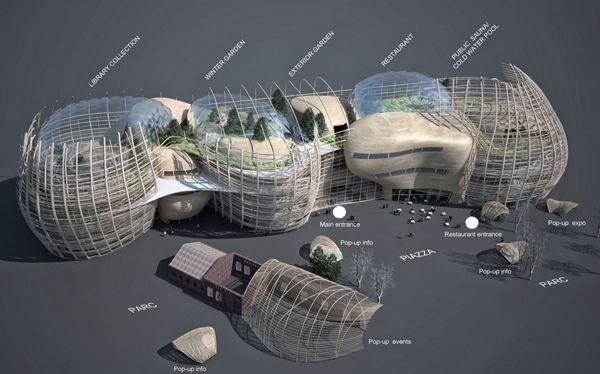 architecture competition, helsinki library, Djuric+Tardio Architectes, multi-program building, wood architecture, public architecture, library design, finnish architecture