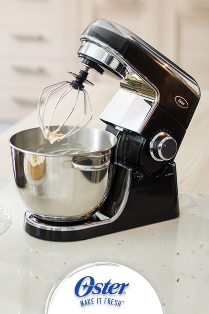 Cake mixes, dough and cookie batters are easy-as-pie to mix up with 12 speeds on the Oster® Planetary Stand Mixer http://bit.ly/1p4E6fM
