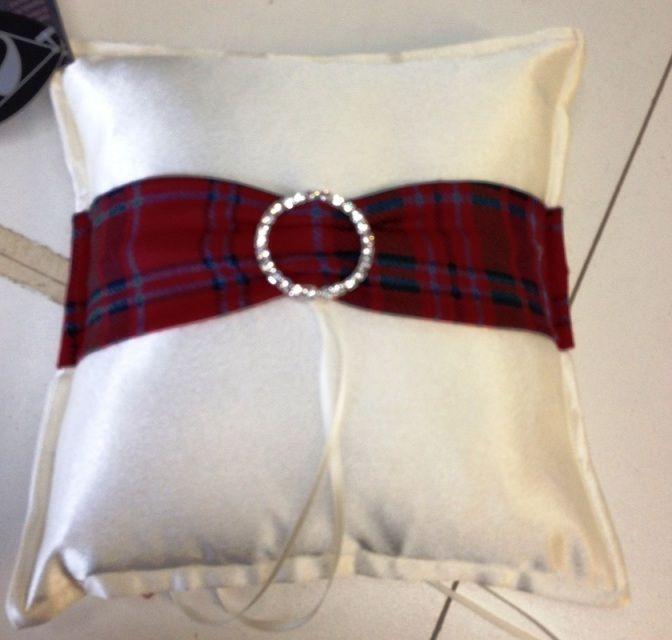 Ring Pillow:- Bling & Tartan