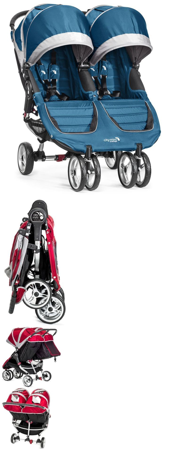 Other Baby Gear 100224: Baby Jogger City Mini Double Twin Stroller Teal Gray New 2016 -> BUY IT NOW ONLY: $404.99 on eBay!