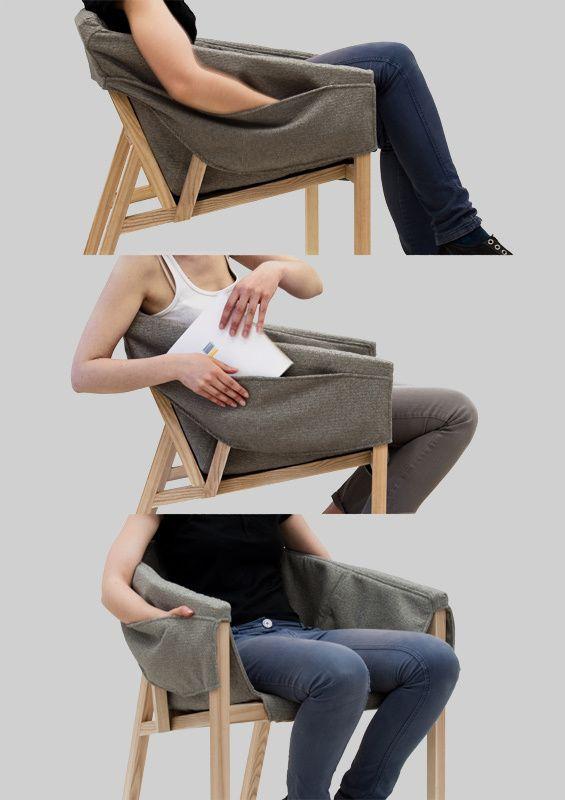 Melle Amo: Le fauteuil à poches