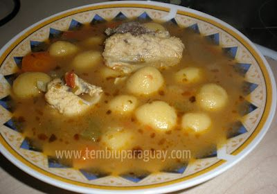 Sopa típica paraguaya Vori Vori  ~ Caldos