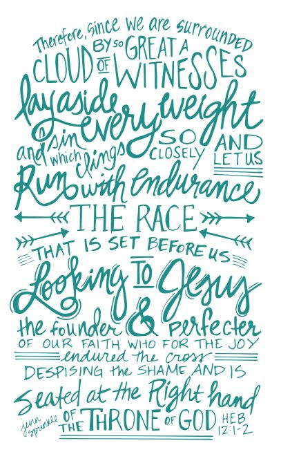 Hebrews 12:1-2 | Perseverance | Running the race | Look to Jesus |