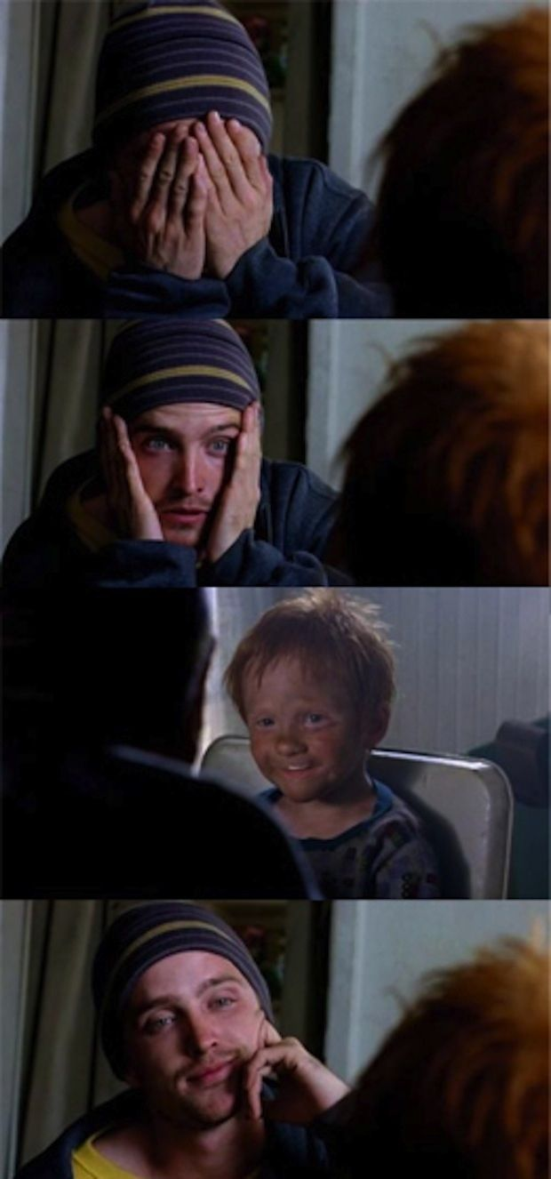 The moment I fell for Jesse Pinkman. What a character arc he's had! Never thought you could respect and love a drug dealer until you have watched this episode.