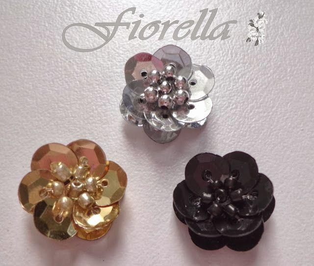 Fiorella Flores en tela: ¡Nuevo! video tutorial #3 Flores en lentejuela y mostacilla