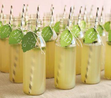 Lemon and Mint wedding drinks.