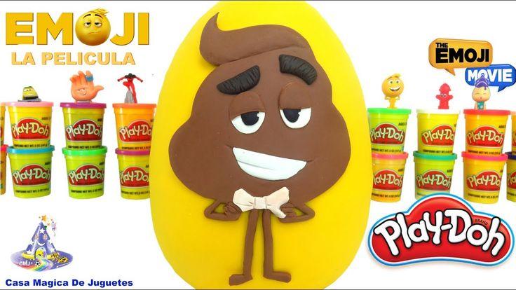Huevo Sorpresa Gigante de Popó de la Pelicula de Emojis Pupú de Emojis e...