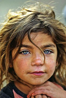 Kurdish girl- I'm in love with her eyes and dark hair! She's gonna be a looker…