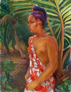 Heiner Schlesing, tahitiaanse. Schilder die in tahiti verbleef ten tijde van gouwe.