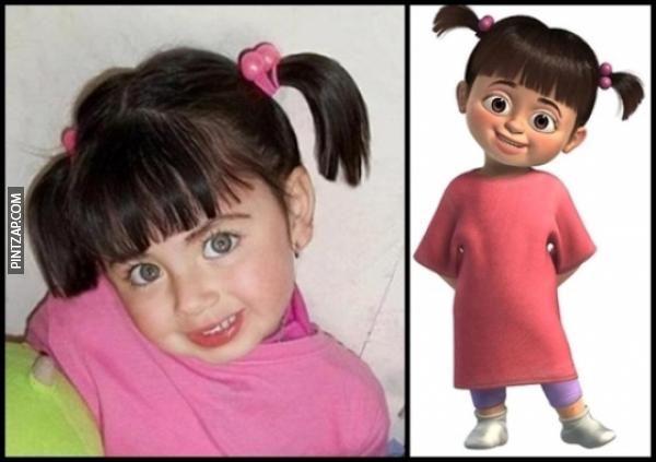 Parecidos razonables: Boo, la niña de Monstruos SA.