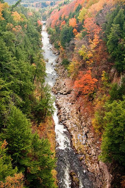 Quechee Gorge, Vermont, the deepest gorge in Vermont and a little over an hour's drive from our inn www.discoververmontvactions.com