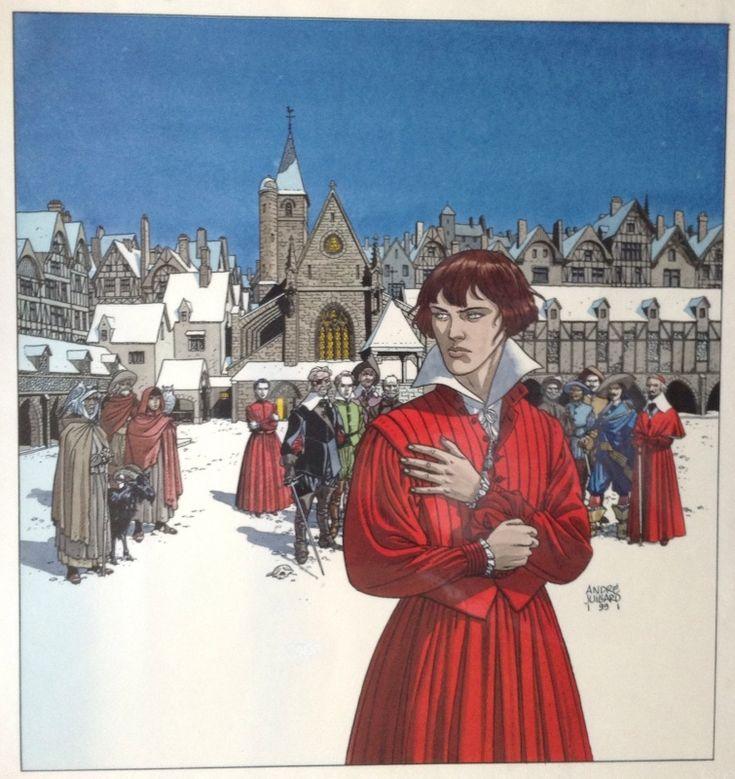 7 Vies Epervier - Couverture - Couleur par André Juillard,Patrick Cothias - Oeuvre originale Details ici: http://www.2dgalleries.com/art/7-vies-epervier-couleur-21771