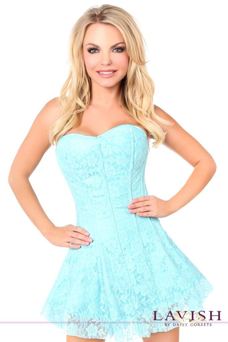 Daisy Corsets Lavish Mint Green Lace Corset Dress