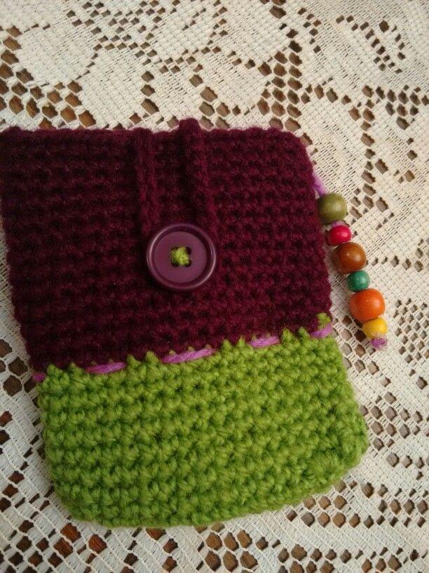 Porta disco duro, crochet