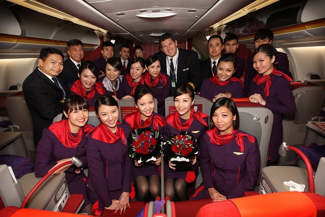 Hong Kong Airlines Captain and crew by KTA Public Relations, via Flickr