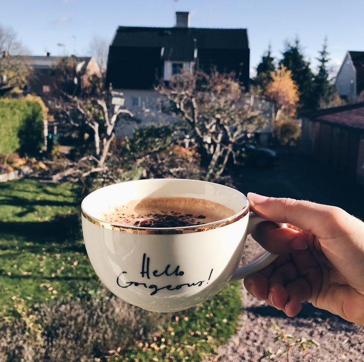 hello gorgeous cup sun coffee chocolate