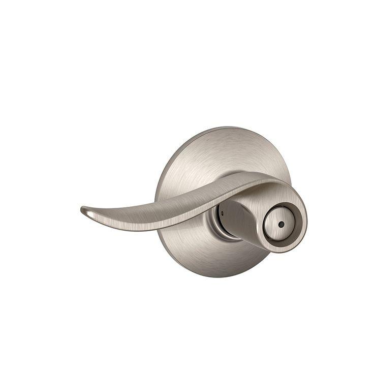 Schlage F40 SAC 619 Sacramento Privacy Lock Lever, Satin Nickel