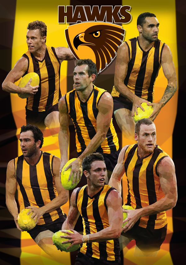 Hawthorn Football Club AFL By Ross McRae Design