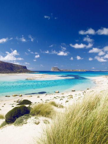 Balos Bay and Gramvousa, Chania, Crete, Greek Islands, Greece, Europe Photographie