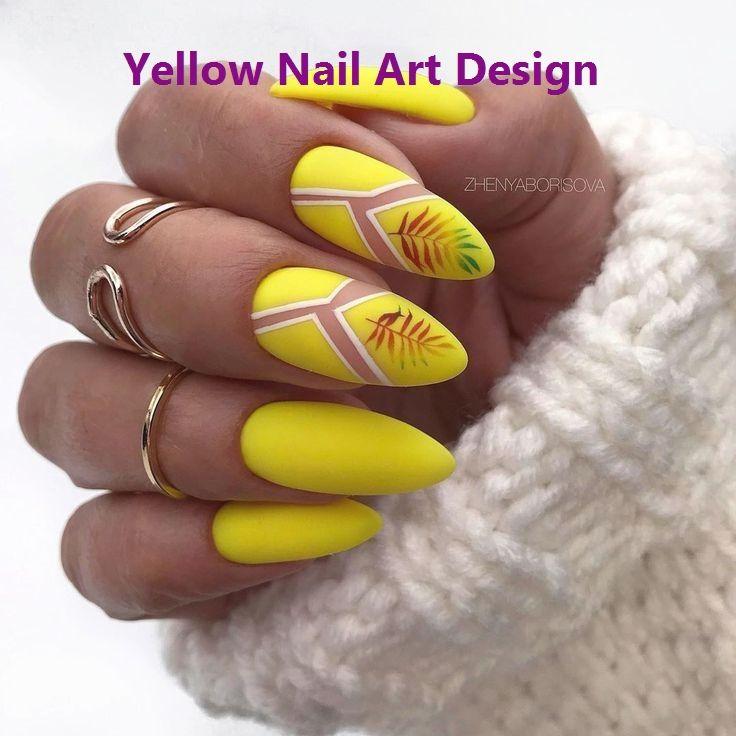 28 süße Sommer gelbe Nägel Design einfach zu kopieren in …